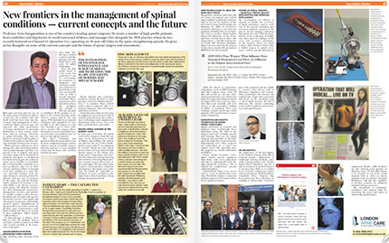 New frontiers in the management of spinal conditions - current concepts and the future